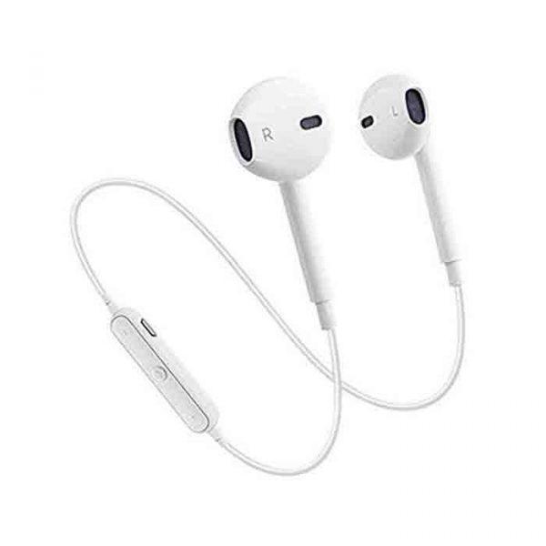 S6 Bluetooth Wireless In Ear Earphone Headset white