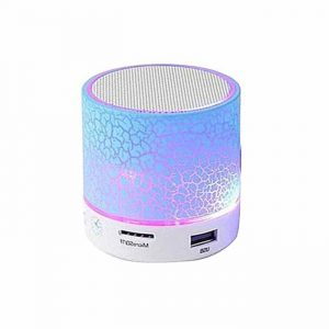 S10 Wireless LED Portable Mini Bluetooth Speaker with FM ,TF Card ,Support LED Lights.