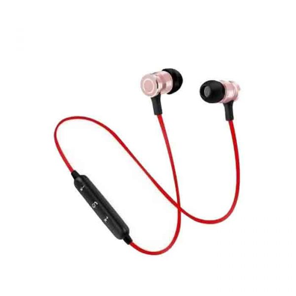 Wireless Magnet Bluetooth Earphone Headphone with Mic, Sweatproof Sports Headset, for Running and Gym