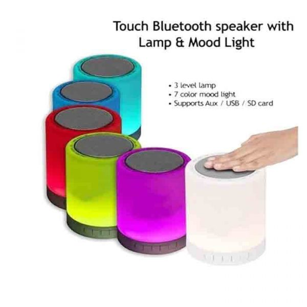 LED Touch Lamp Mini Portable Multifunction Bluetooth Speaker Bass Sound