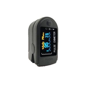 Digital Fingertip Pulse Oximeter with Visual Alarm (Made in India) (Black)