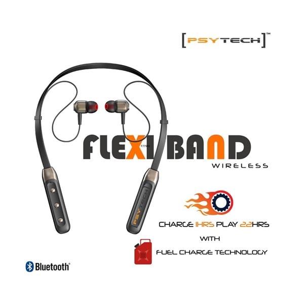 PSYTECH flexiband Sports Bluetooth Wireless Earphone 4D Stereo Sound