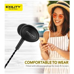 Dvaio EXILITY Wired Headset Royal Bass Wired In the Ear headset Black