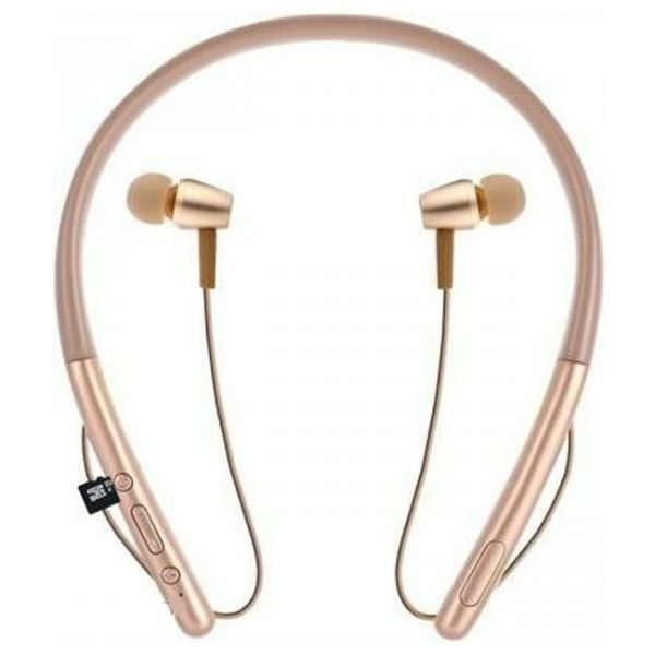 Magnetic Hear in 2 Wireless Earphone Bluetooth Neckband with Mic