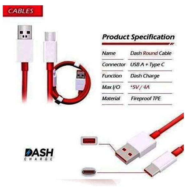 Dash USB Type C Cable Rapid Charging & sync Suitable All OnePlus
