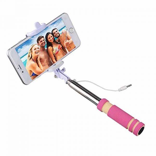 Mini Selfie Stick With Aux Cable-min