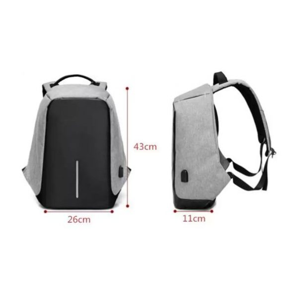 Medium 25 L Laptop Backpack Anti Theft Laptop Bag with USB Charging Port with Headphone Port, Waterproof College Bag (Black)