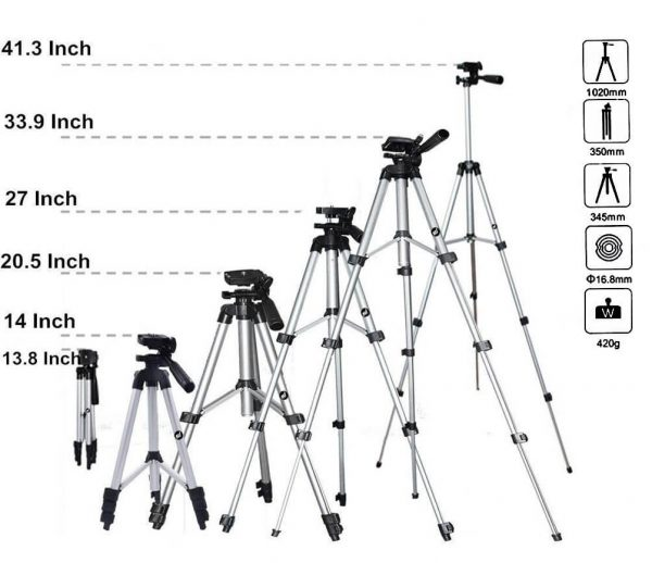 3110 Portable & Foldable Camera & Mobile Tripod with Mobile Clip Holder Bracket Tripods - Buy Tripods From 249 Online mobile acessories in India vividkart