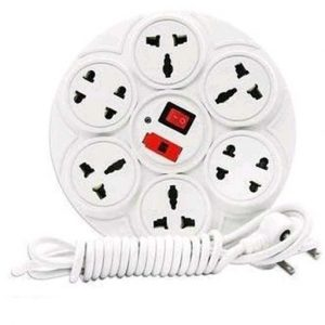 Universal Multi Plug Point Extension Board white with LED Indicator