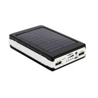 Callmate Solar Powerbank 15000 mAh Power Bank 20 led lights Grey Gold