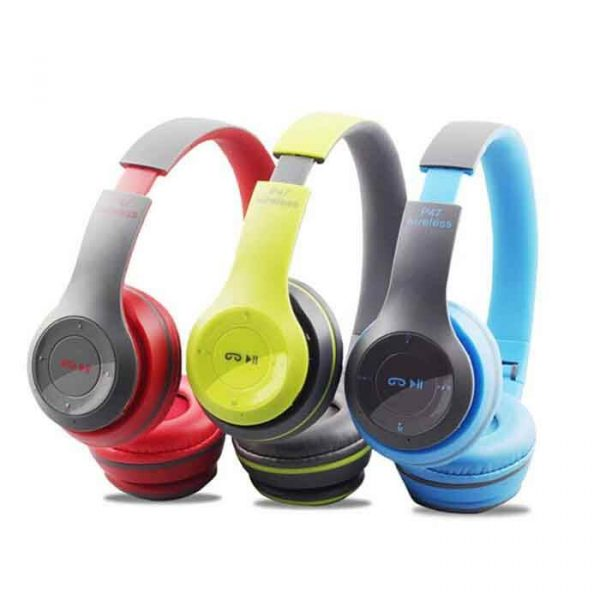 P47 HD Sound Wireless Headphones Foldable Bluetooth Headphones with Mic