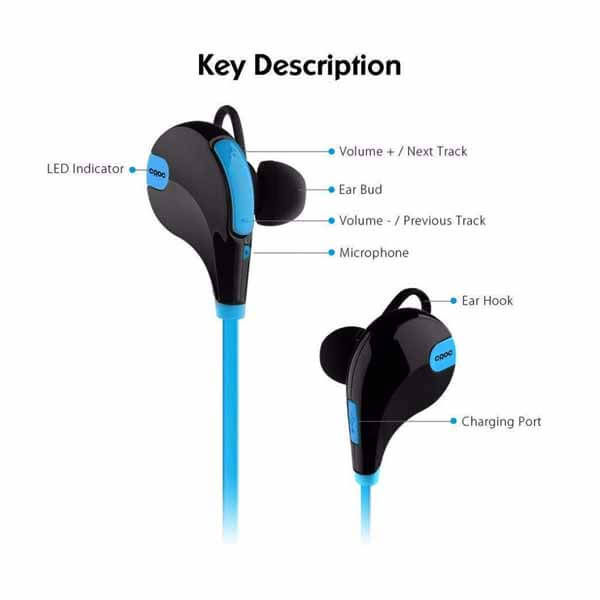 Jogger Bluetooth Headphones With Mic jogger blue Bluetooth