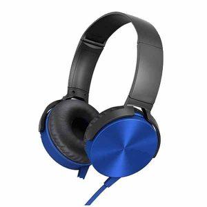 VK XB450 Powerful EXTRA BASS Sound Wire Headphones blue