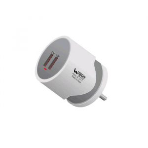 Ubon mobile charger CH-11 Power Hub Wall Charger 12W Dual USB Port With Fast Charging Data Cable _