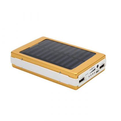 Callmate Solar Powerbank 20000 mAh Power Bank 20 Led Lights Gold